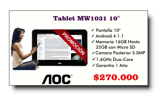 AOC - Promo Tablet MW1031